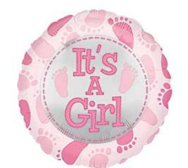 It\'s A Girl Mylar