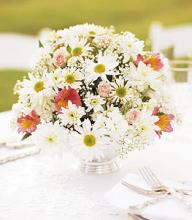 Daisy & Spray Rose Centerpiece