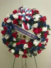 Red White & Blue Silk/Fresh Wreath