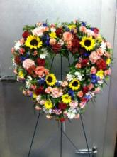 Vibrant Open Heart Wreath
