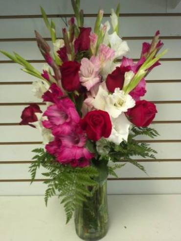 Sensational Gladiolas and Roses