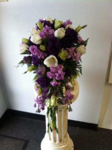 Purple Bridle Bouquet