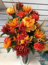 Fall Silk Perpetual Arrangement with Cone
