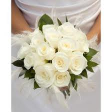 Hand-Tied White Roses Nosegay